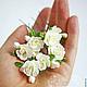 Свадебные украшения ручной работы. Цветы для прически на шпильках. Юлия Шепелева Lovely Flowers Lab. Ярмарка Мастеров. Цветы в прическу