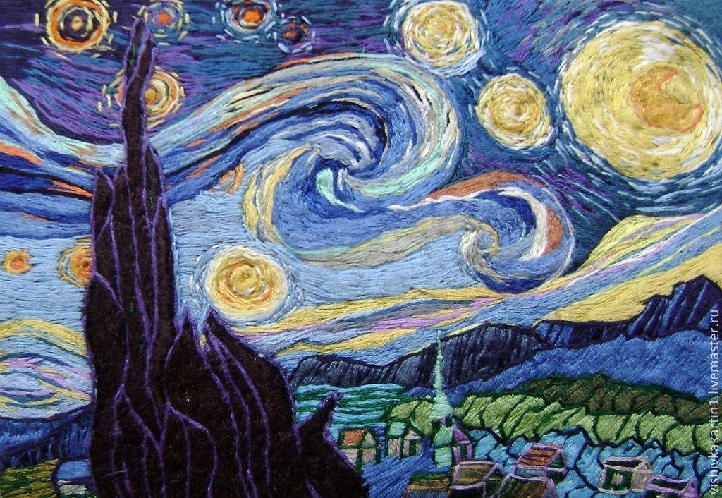 Вышивка купить звездная ночь