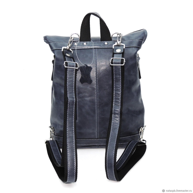 Livemaster Backpacks handmade. Backpack leather womens blue  Neva . Natalia  Kalinovskaya. My Livemaster Backpacks handmade. 26682221aebd1