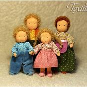 Куклы и игрушки ручной работы. Ярмарка Мастеров - ручная работа Семья каркасных куколок. Handmade.