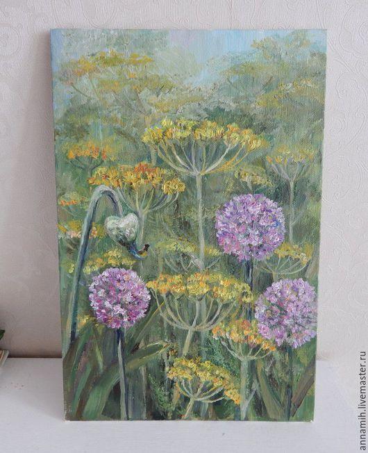 """Картины цветов ручной работы. Ярмарка Мастеров - ручная работа. Купить """"Огород"""" картина маслом. Handmade. Картина в подарок, цветы"""