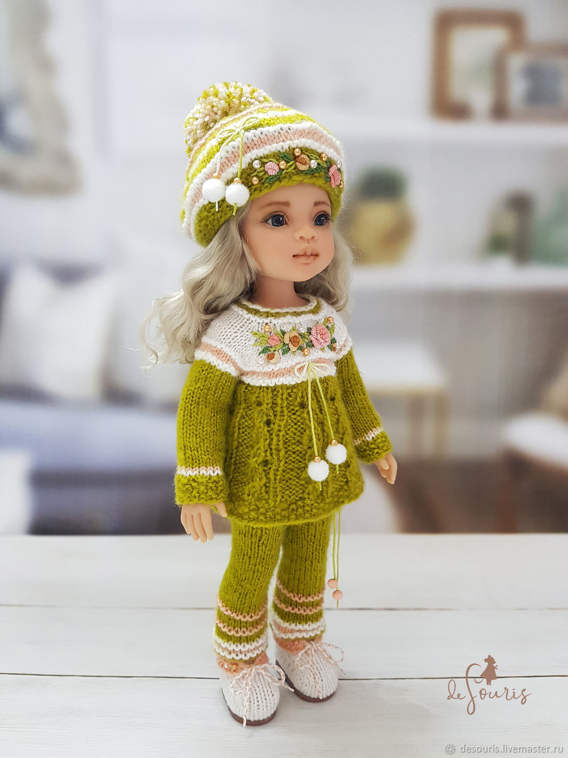 Clothes for Paola Reina dolls. Green-peach costume ' fairy Tale', Clothes for dolls, Voronezh,  Фото №1