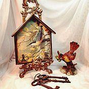 Ключницы ручной работы. Ярмарка Мастеров - ручная работа Ключницы с птицами в ассортименте. Handmade.