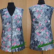 Одежда ручной работы. Ярмарка Мастеров - ручная работа Жилет серо-розовый. Handmade.
