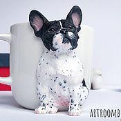 Посуда handmade. Livemaster - original item Bulldog on the mug. Handmade.