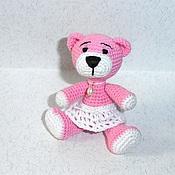 Куклы и игрушки ручной работы. Ярмарка Мастеров - ручная работа Розовая мишка Жемчужинка (8,5 см). Handmade.