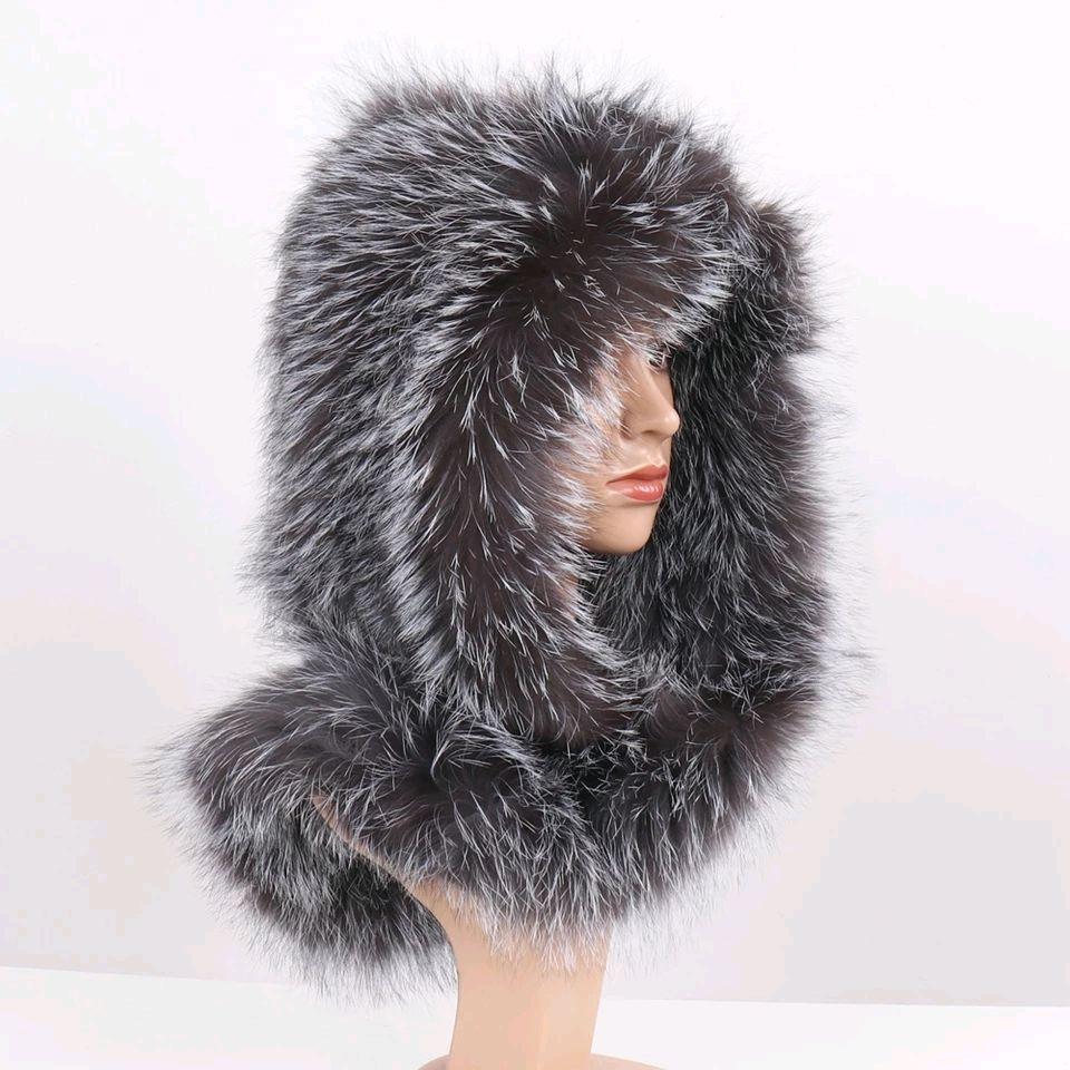 Шарф-капюшон из натурального меха лисы, Шарфы, Москва,  Фото №1
