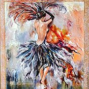 Картины и панно ручной работы. Ярмарка Мастеров - ручная работа Мулен руш (картина на зеркале). Handmade.