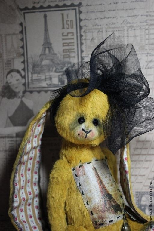 """Мишки Тедди ручной работы. Ярмарка Мастеров - ручная работа. Купить """"Путешествие в Париж..."""". Handmade. Хаки, вискоза италия"""