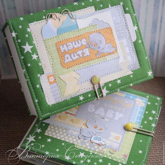 Подарки для новорожденных, ручной работы. Ярмарка Мастеров - ручная работа. Купить Smash book для маминых заметок и коробочка для мальчика. Handmade.