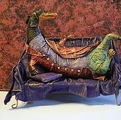 Куклы и игрушки ручной работы. Ярмарка Мастеров - ручная работа Такс на диване. Handmade.