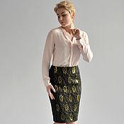 Одежда handmade. Livemaster - original item Skirt black gold mesh. Handmade.