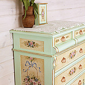 Дизайн и реклама handmade. Livemaster - original item Painted chest of drawers to order. Handmade.
