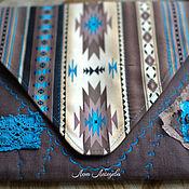 Текстильный комплект клатч А4 и мятый шарф-жгут .