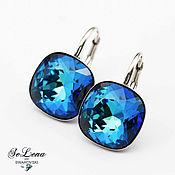 Украшения handmade. Livemaster - original item Silver Swarovski studs_ Evening earrings with Swarovski crystals. Handmade.