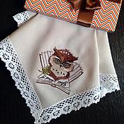 Аксессуары handmade. Livemaster - original item Handkerchief women`s and men`s Owl and the Fox. Handmade.