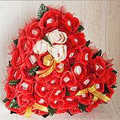 """Подарки к праздникам ручной работы. Ярмарка Мастеров - ручная работа Сердце из конфет """"Мелодия души моей"""". Handmade."""