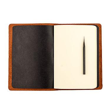 Stationery handmade. Livemaster - original item Leather notebook A5 with interchangeable notebooks. Handmade.