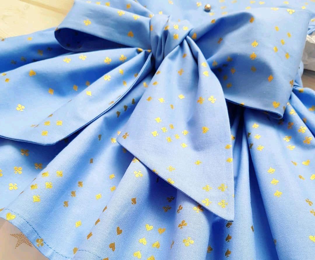 Платье из американского хлопка с итальянским кружевом