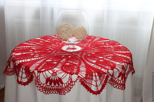 Текстиль, ковры ручной работы. Ярмарка Мастеров - ручная работа. Купить Скатерть № 22. Handmade. Ярко-красный