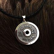 Украшения handmade. Livemaster - original item pendant-disc from the rod. Handmade.