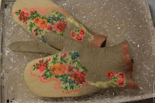 """Варежки, митенки, перчатки ручной работы. Ярмарка Мастеров - ручная работа. Купить Варежечки """"Краски лета"""". Handmade. Комбинированный, подарок"""