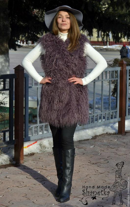 жилет из меха ламы купить в Москве  жилетка из искусственного меха под ламу жилет лама