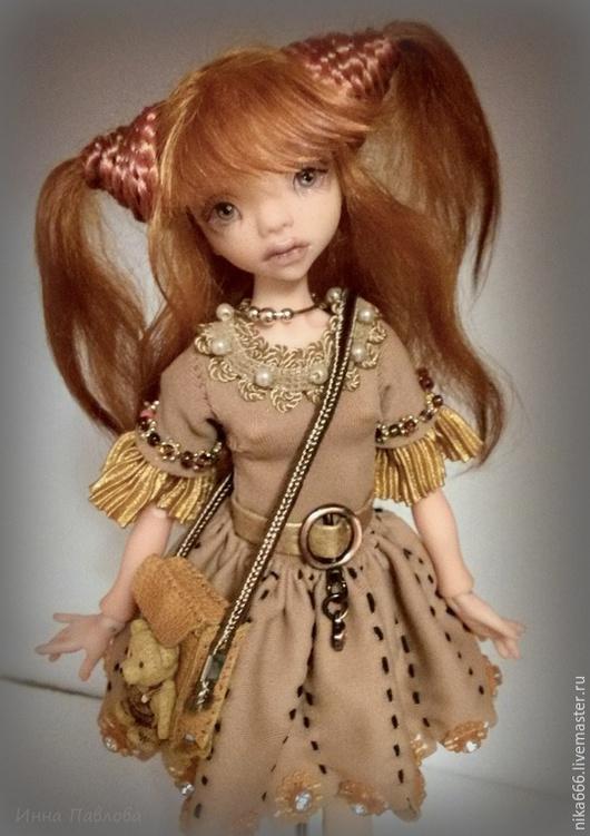 Коллекционные куклы ручной работы. Ярмарка Мастеров - ручная работа. Купить Девочка-Белочка. Handmade. Рыжий, девочка