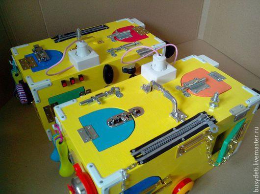 Развивающие игрушки ручной работы. Ярмарка Мастеров - ручная работа. Купить Бизиборд сундучок. Handmade. Комбинированный, бизиборды, купить бизиборд