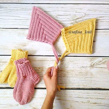 Товары для малышей ручной работы. Ярмарка Мастеров - ручная работа Шапочки, пинетки, носочки. Handmade.