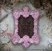 """Сувениры и подарки ручной работы. Ярмарка Мастеров - ручная работа Фоторамка """"Изабелла де Бурбон"""" розовая в стиле рококо. Handmade."""