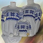 Одежда ручной работы. Ярмарка Мастеров - ручная работа Тату-свитера - НОРВЕЖСКИЕ СНЕЖИНКИ (для всей семьи). Handmade.