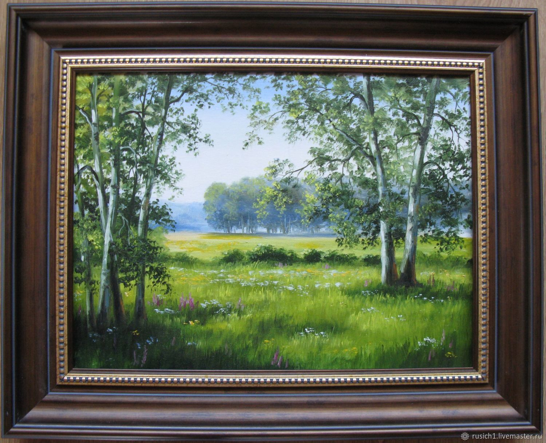 Солнечная поляна. 30х40см, Картины, Москва, Фото №1