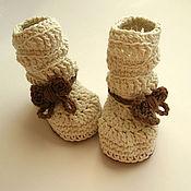 Работы для детей, handmade. Livemaster - original item Booties - boots(quilted). Handmade.