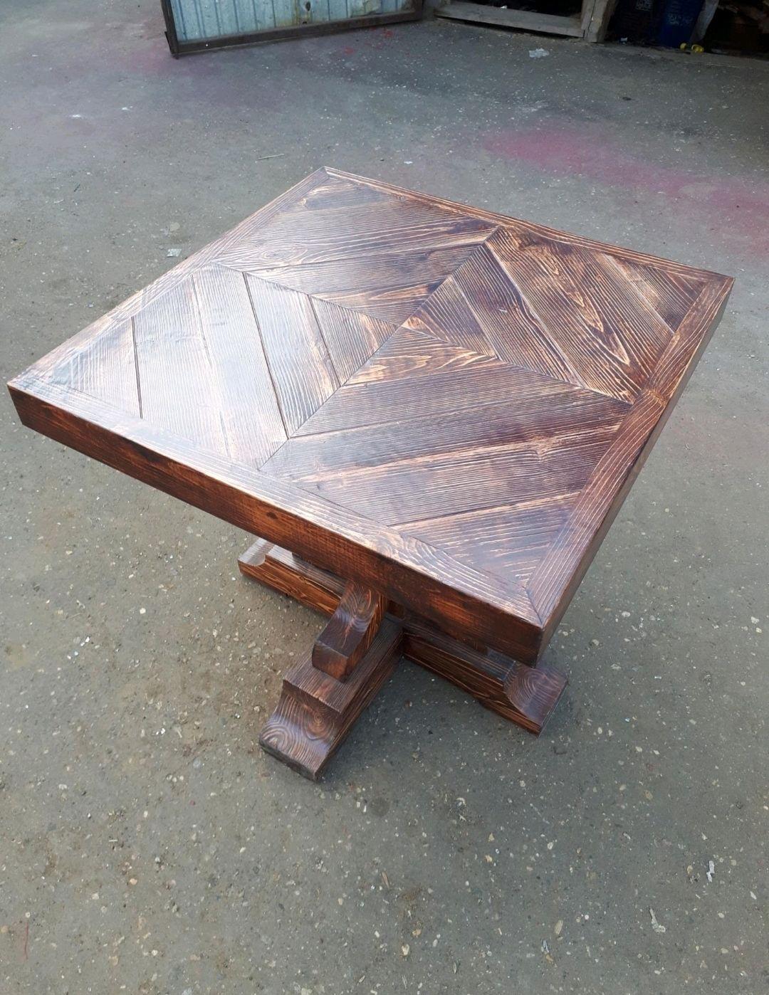 Деревянный стол квадратный, Столы, Москва,  Фото №1