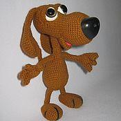 Мягкие игрушки ручной работы. Ярмарка Мастеров - ручная работа Собака вязаная крючком. Handmade.