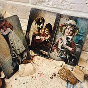 Открытки handmade. Livemaster - original item Wooden greeting cards