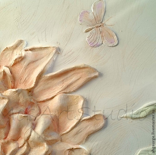 Картины цветов ручной работы. Ярмарка Мастеров - ручная работа. Купить Пион- цветок любви. Handmade. Кремовый, любовь