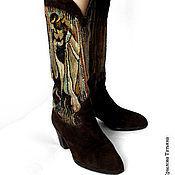 Обувь ручной работы. Ярмарка Мастеров - ручная работа Сапоги с тканым голенищем. Handmade.