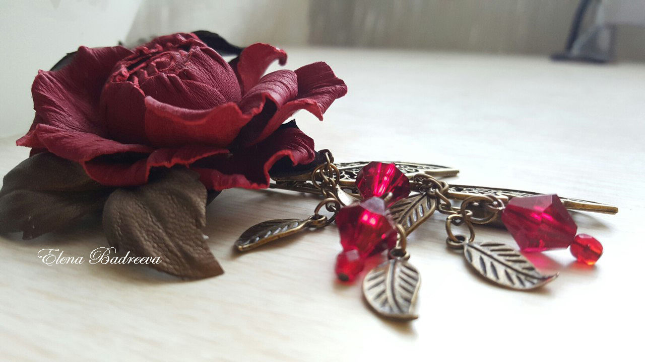 Роза из кожи своими руками 941