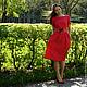 Платья ручной работы. Заказать Платье Татьянка, красный жаккард. BAHROMA (caterina-max). Ярмарка Мастеров. Платье в цветочек