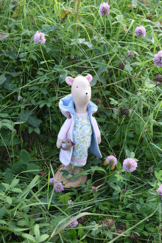 Игрушки животные, ручной работы. Ярмарка Мастеров - ручная работа. Купить В ожидании чуда (текстильный мишка). Handmade. Голубой