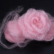 """Работы для детей, ручной работы. Ярмарка Мастеров - ручная работа Повязка для фотосессии новорожденной """"Роза"""". Handmade."""