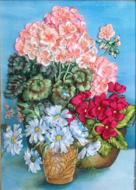 Вышитые картины с цветами