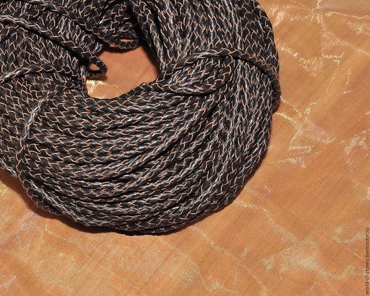 Для украшений ручной работы. Ярмарка Мастеров - ручная работа. Купить Шнур кожаный, плетенка 2,5. Handmade. Коричневый