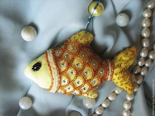 """Игрушки животные, ручной работы. Ярмарка Мастеров - ручная работа. Купить Игрушка """"Золотая рыбка"""". Handmade. Желтый, игрушка в подарок"""