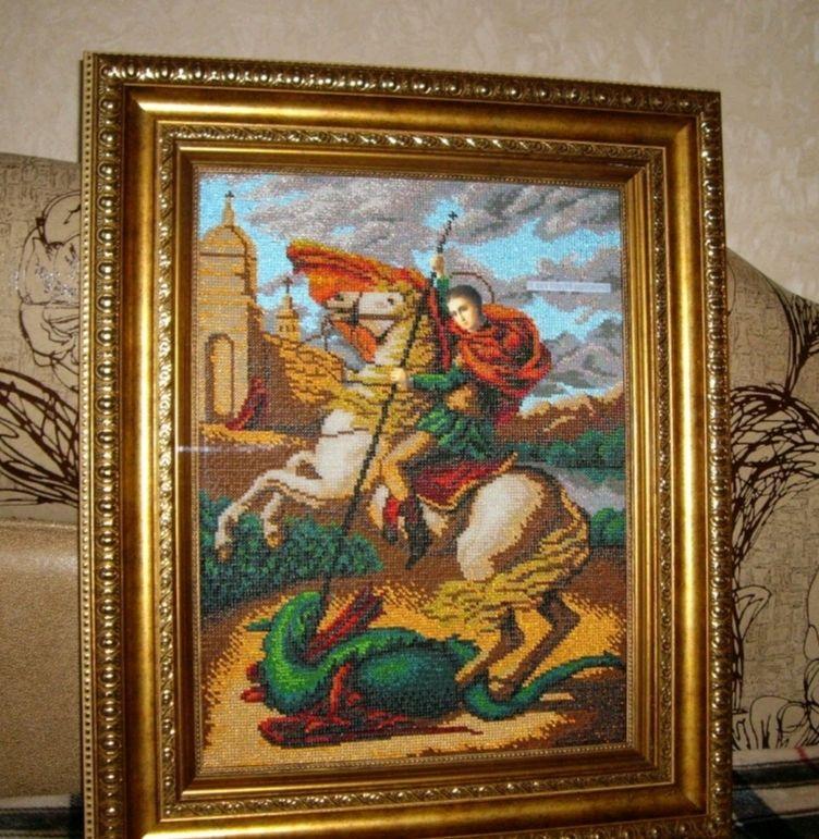 Икона святого великомученика Георгия Победоносца, Иконы, Саранск,  Фото №1