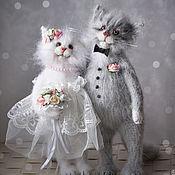 Куклы и игрушки handmade. Livemaster - original item wedding couple groom and bride cats. Handmade.