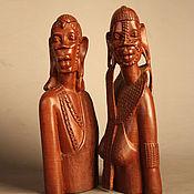 Для дома и интерьера ручной работы. Ярмарка Мастеров - ручная работа Бюсты мужчины и женщины красное дерево Африка - эбеновое дерево. Handmade.