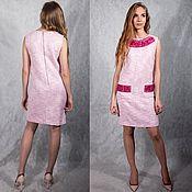 Одежда handmade. Livemaster - original item Pink Chanel dress sleeveless. Handmade.
